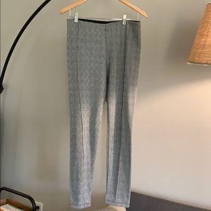 Zara houndstooth front pleat legging